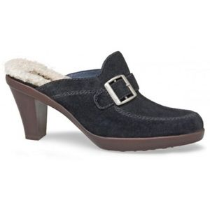 Ugg Isabella Suede Clogs / Mules Navy Blue